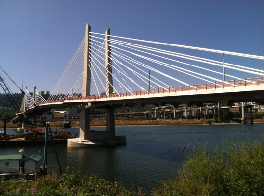 Portland's newest bridge bans cars, prioritizing transit, bicycling and walking.