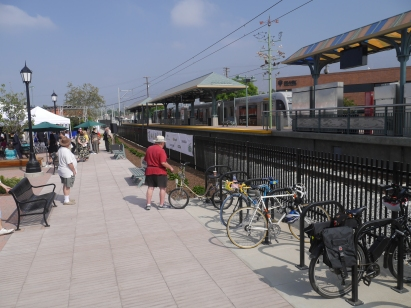 Bike parking at Arcadia station.
